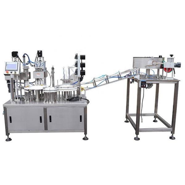 Automatic Perfume Medicine Pharmaceuticals Ointment Syrup Cream Essential Oil Cosmetic Small Plastic Glass Bottle Filling Capping Sealing Machine #1 image